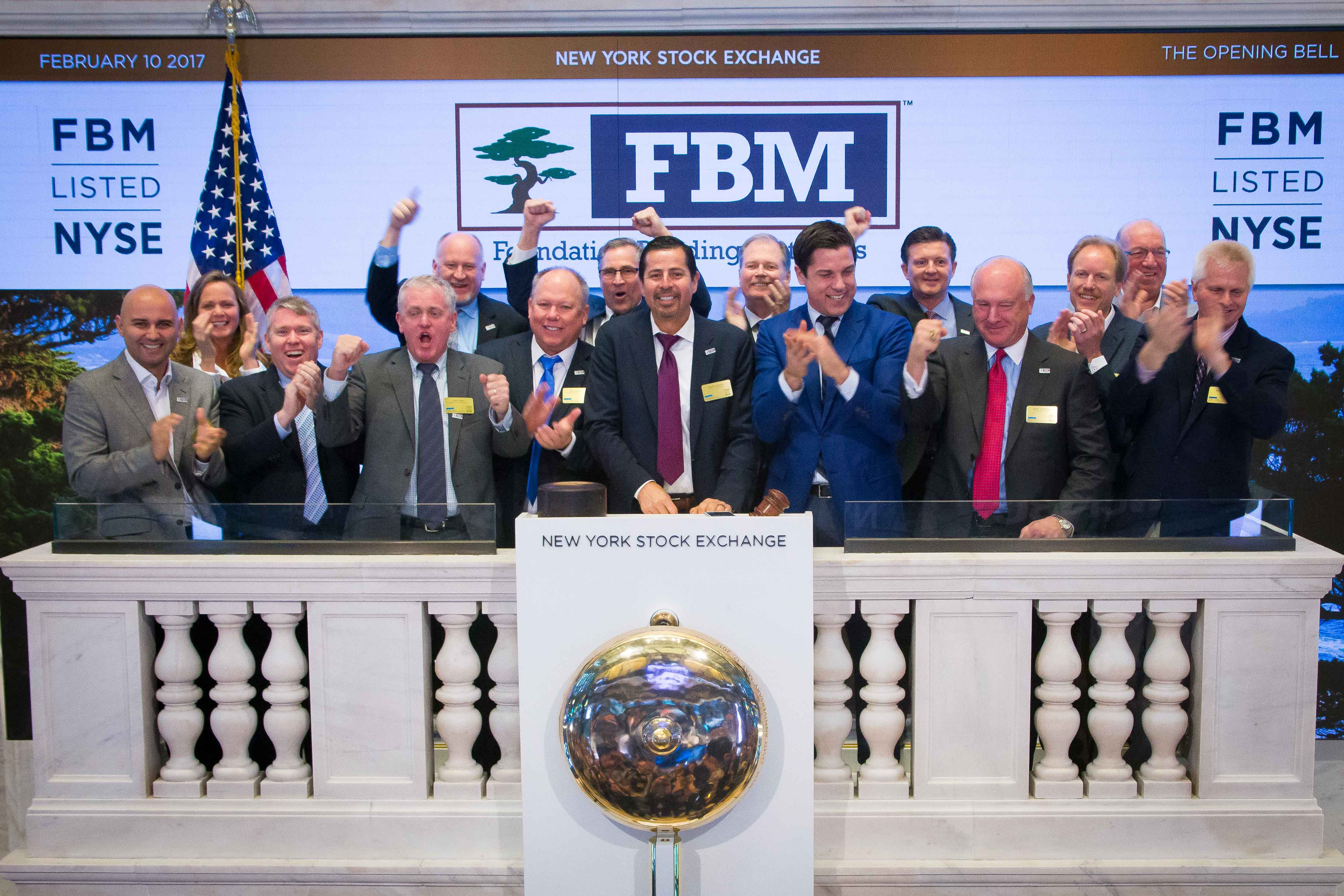 Foundation Building Materials Listed on the New York Stock Exchange, February 10, 2017