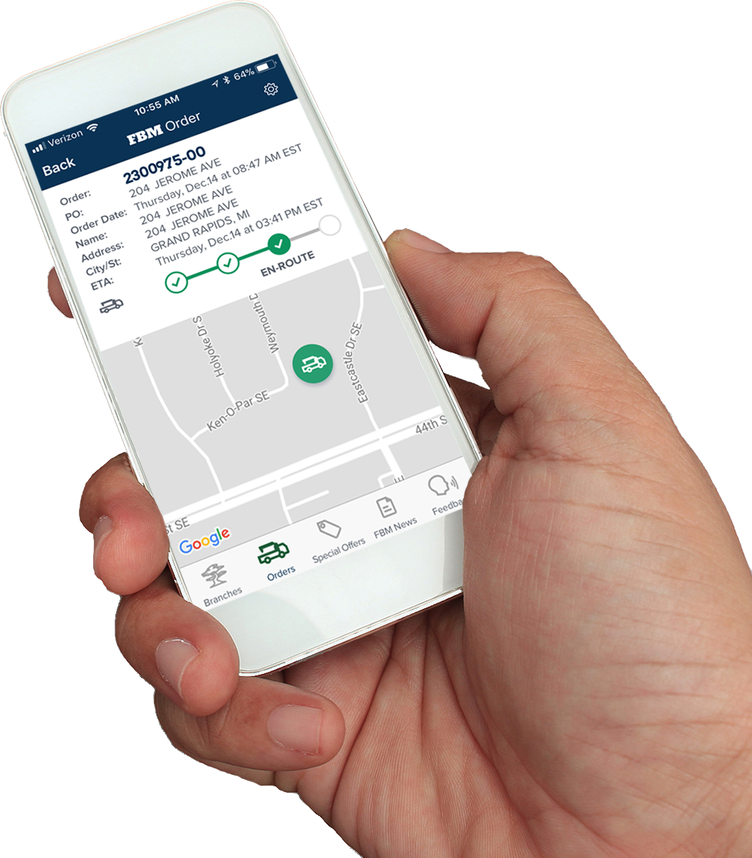 """New """"Map My Truck"""" feature now available on the FBM App"""